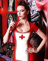 Latex nurse outfit