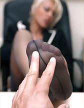 Office feet sex