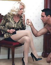 Smoking fun with a slave