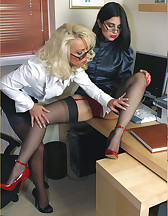 Two sluts in office
