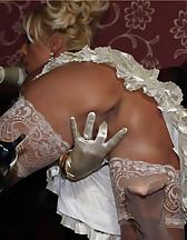 Blonde bitch in white