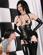 Rubber Strap-On Session