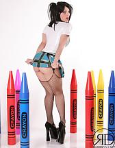 Kinky Latex Schoolgirl