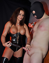 Syringing Sperm From My Slave