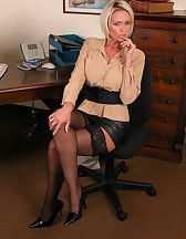 Hot blonde secretary