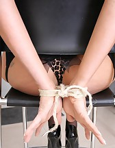 Tied up at home