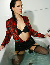 Horny and soaking wet secretary