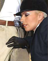Leggy Lana riding
