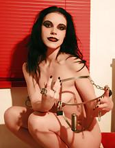 Locked herself in CB