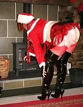 Filthy Santa Boot Slut