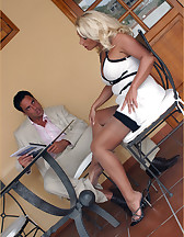 Hot blonde domme