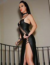 Classic Mistress in long leather