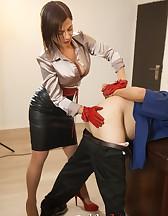 Mistress Ella Kross Makes Her Slave Take a Strap-On!