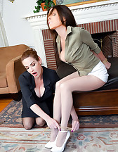 Mistress tied with her slave