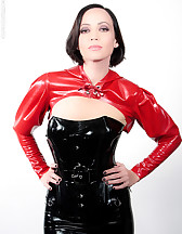 Mistress in latex and Ashley Renee