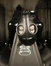 Gas mask latex bondage
