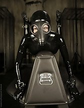 Gas mask latex bondage