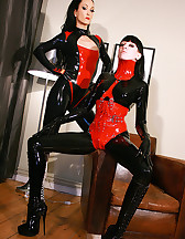 Playing with my latex slave girl