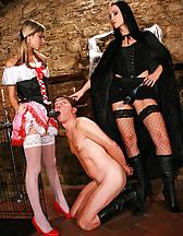 Hot lesbians in a femdom fairytale