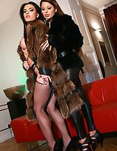 Classy ladies play in real furs
