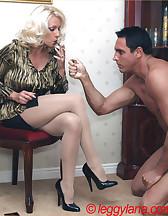 Lana Cox smokes cock