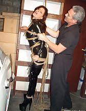 Suspension rope bondage