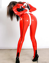 Bound in red latex