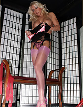 Blonde beauty in lingerie