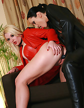 Fucking my leather girlfriend