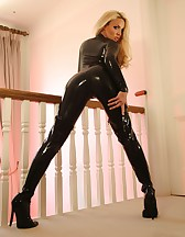 Tight Sexy Leather Catsuit