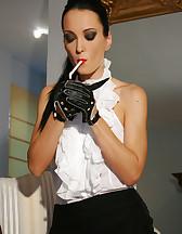 Smoking Lady of the Manor