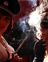 Double Domme Smoking, pic #7
