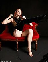 Black latex boots, pic #1