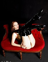 Black latex boots, pic #12