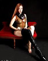 Black latex boots, pic #2
