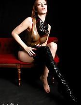 Black latex boots, pic #3
