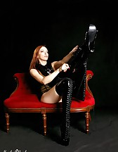 Black latex boots, pic #5
