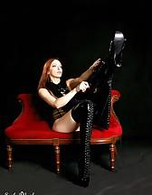 Black latex boots, pic #5