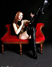 Black latex boots, pic #6