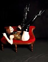 Black latex boots, pic #7