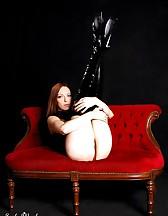 Black latex boots, pic #9