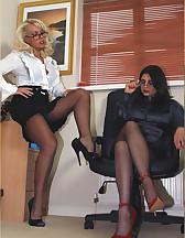 Two sluts in office, pic #1