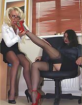 Two sluts in office, pic #2