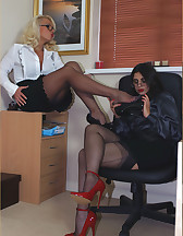 Two sluts in office, pic #3