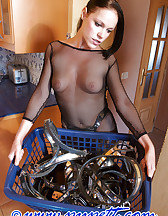 Locked herself in chastity, pic #1