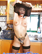 Locked herself in chastity, pic #4