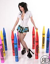 Kinky Latex Schoolgirl, pic #1