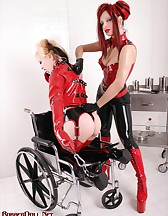 Girl-Girl Rubber Domination, pic #5