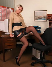 Hot blonde secretary, pic #4