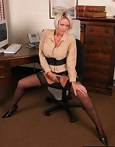 Hot blonde secretary, pic #6
